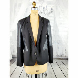 Revolve Bardot Black Blazer Jacket mix Fabric